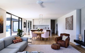 Picture interior, kitchen, living room, dining room, Elsternwick House, by InForm