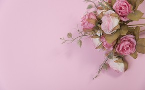 Picture flowers, roses, pink, buds, pink, flowers, roses
