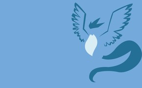 Picture blue, bird, ice, bird, blue, fly, pokemon, pokemon, legendary, flying, ice, Artikuno, Artikuno