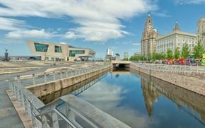 Picture bridge, England, home, channel, Liverpool