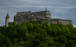 Picture castle, Vianden, Vianden, Luxembourg, Vianden Castle, Luxembourg