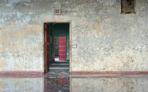 Wallpaper output, door, house