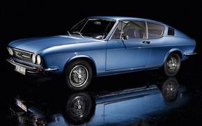 Picture Audi, Reflection, Auto, Blue, Retro, Machine, 100, Audi 100, Audi 100 coupe S 1970, Audi …