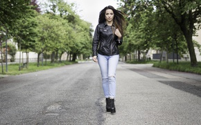 Picture look, street, model, jeans, jacket, beauty, Carlotta
