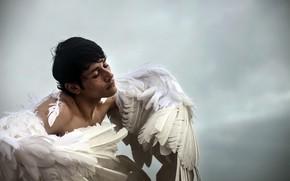 Wallpaper people, wings, angel