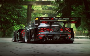 Wallpaper Mazda, RX-7, Time, Attack, Rear, by Khyzyl Saleem