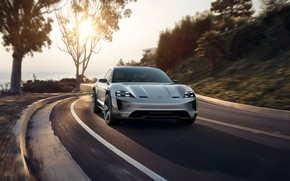 Picture Concept, sunset, Porsche, 2018, Mission E, Cross Turismo