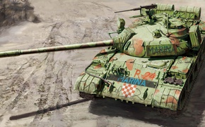 Picture figure, main battle tank, T-55A, Soviet medium tank, MARINA
