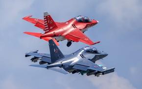 Wallpaper pair, The Yak-130, combat training, light attack, flight