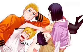 Picture Naruto, anime, ninja, shinobi, japanese, god, byakugan, Hinata, jinchuuriki, doujutsu, nanadaime hokage, kunoichi, family, Boruto, …