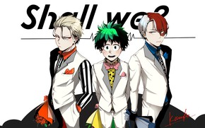 Picture anime, art, guys, Boku no Hero Academy, My heroic academia