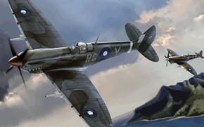Picture Spitfire, Supermarine, Mk.VIII, Australian air force