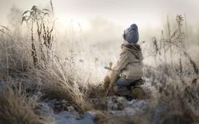 Picture winter, bike, boy