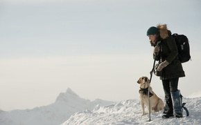 Picture cinema, dog, snow, movie, film, Kate Winslet, The Mountain Between Us