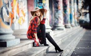 Picture girl, street, Barbora