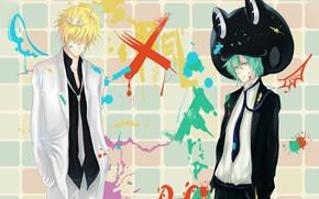 Picture paint, anime, guys, Katekyo Hitman REBORN!, BELPHEGOR, Fran