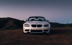 Picture BMW, Front, White, E92, Sight, LED