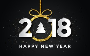 Picture Happy New Year, 2018, Cristmas
