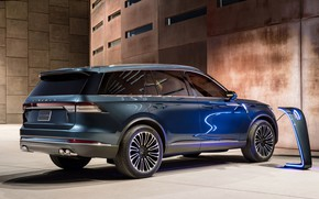 Picture Lincoln, rear view, Aviator, 2019