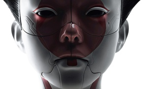 Picture cinema, robot, android, mecha, woman, movie, face, assassin, asian, film, head, japanese, oriental, asiatic, Ghost …