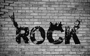 Picture rock, word, Punk Rock