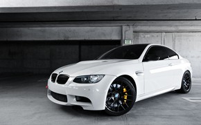 Picture BMW, White, E92, Parcking