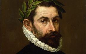 Picture picture, El Greco, Laurel wreath, Portrait of the Poet Alonso zúñiga and Ercilia