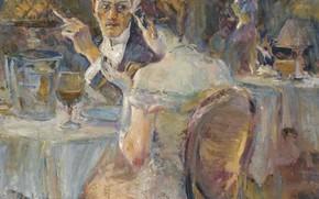 Picture picture, date, genre, Evening in a Paris Cafe, Elie Anatole Pavil, Elie Anatole Pavil