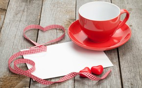Picture love, gift, heart, tape, Cup, hearts, love, wood, cup, romantic, hearts, Valentine's Day, gift