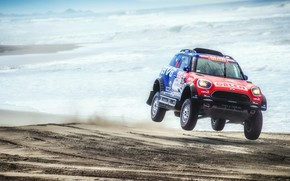 Picture Sand, Sea, Beach, Mini, Sport, Speed, Race, Rally, Dakar, Dakar, SUV, Rally, X-Raid Team, MINI ...