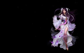 Picture girl, fantasy, the game, art, costume, work, gray smoky