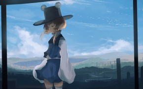 Picture the sky, the game, art, girl, Touhou, Touhou
