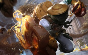 Wallpaper Honey, League of Legends, Artwork, LoL, Cell, Splash, The beekeeper, Beekeeper, Singed, Bees
