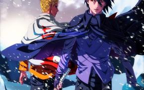 Picture sword, Sasuke, Naruto, blizzard, snow, katana, ken, blade, sharingan, ninja, Uchiha, Uzumaki, shinobi, jinchuuriki, doujutsu, …