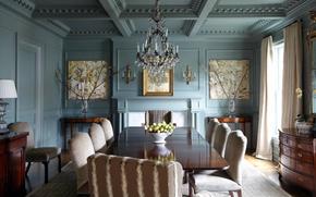 Wallpaper style, room, interior, dining room