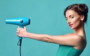Picture model, look, Makeup, hair dryer