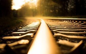Wallpaper railroad, background, rails, light