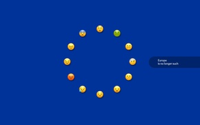 Picture Europe, minimalism, Europe, The European Union, the flag of Europe