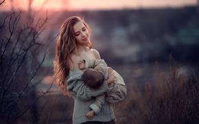 Picture mom, child, motherhood, feeding