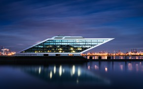 Picture Hamburg, Elbe, Dockland