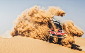 Wallpaper Sand, Auto, Sport, Machine, Race, Peugeot, Lights, Red Bull, Rally, Dakar, Dakar, SUV, Rally, Sport, ...