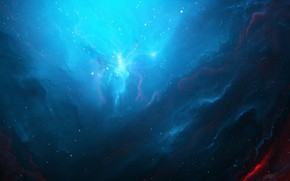 Wallpaper colors, colorful, space, blue, Nebula, stars, cosmos, galaxy