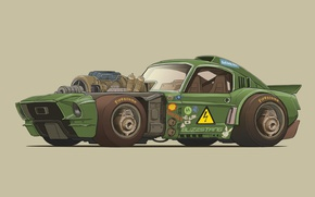 Wallpaper Mustang, Ford, Figure, Shelby Mustang, Buzzstang, Damon Moran