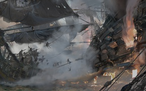 Picture game, pirate, war, fight, pirate ship, ship, kaizoku, Skull and Bones