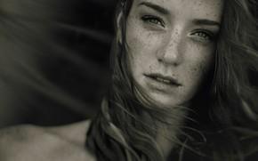 Picture portrait, beauty, freckles, photographer, Martin Tim