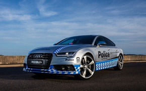 Picture Audi, police, front, police, flasher, force, sportback, scumbria, S 7, safety-car