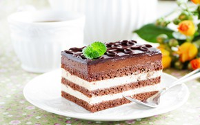 Wallpaper cream, chocolate, dessert, chocolate glaze, cake, sweet, biscuit