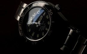 Picture style, black, watch