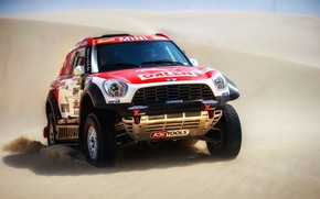 Picture Sand, Mini, Sport, Desert, Machine, Speed, Race, Rally, SUV, Rally, The front, Dune, X-Raid Team, …