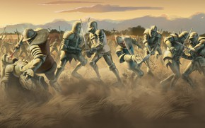 Wallpaper battlefield, sword, armor, war, dead, ken, blade, death, warrior, knight, anarmor